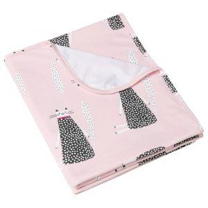 Κουβέρτα ανοιξιάτικη ροζ Sitting Cats