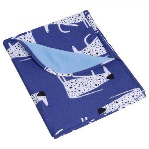 Κουβέρτα ανοιξιάτικη μπλε Dalmatian Dogs