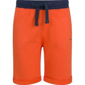 Βερμούδα πορτοκαλί-μπλε με τσέπες