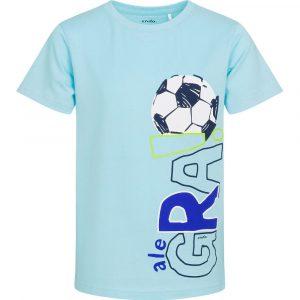 Κοντομάνικη μπλούζα γαλάζια Alegra