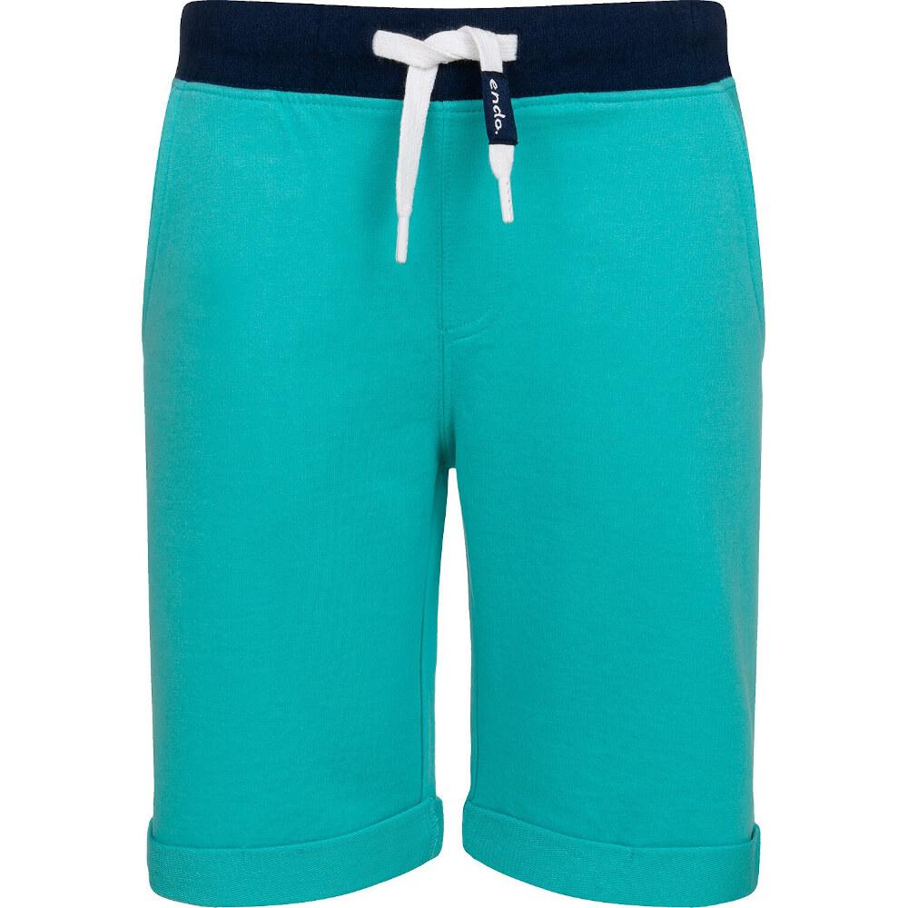 Βερμούδα τυρκουάζ-μπλε με τσέπη πίσω