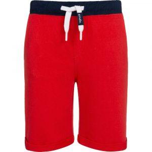 Βερμούδα κόκκινη-μπλε με τσέπη πίσω