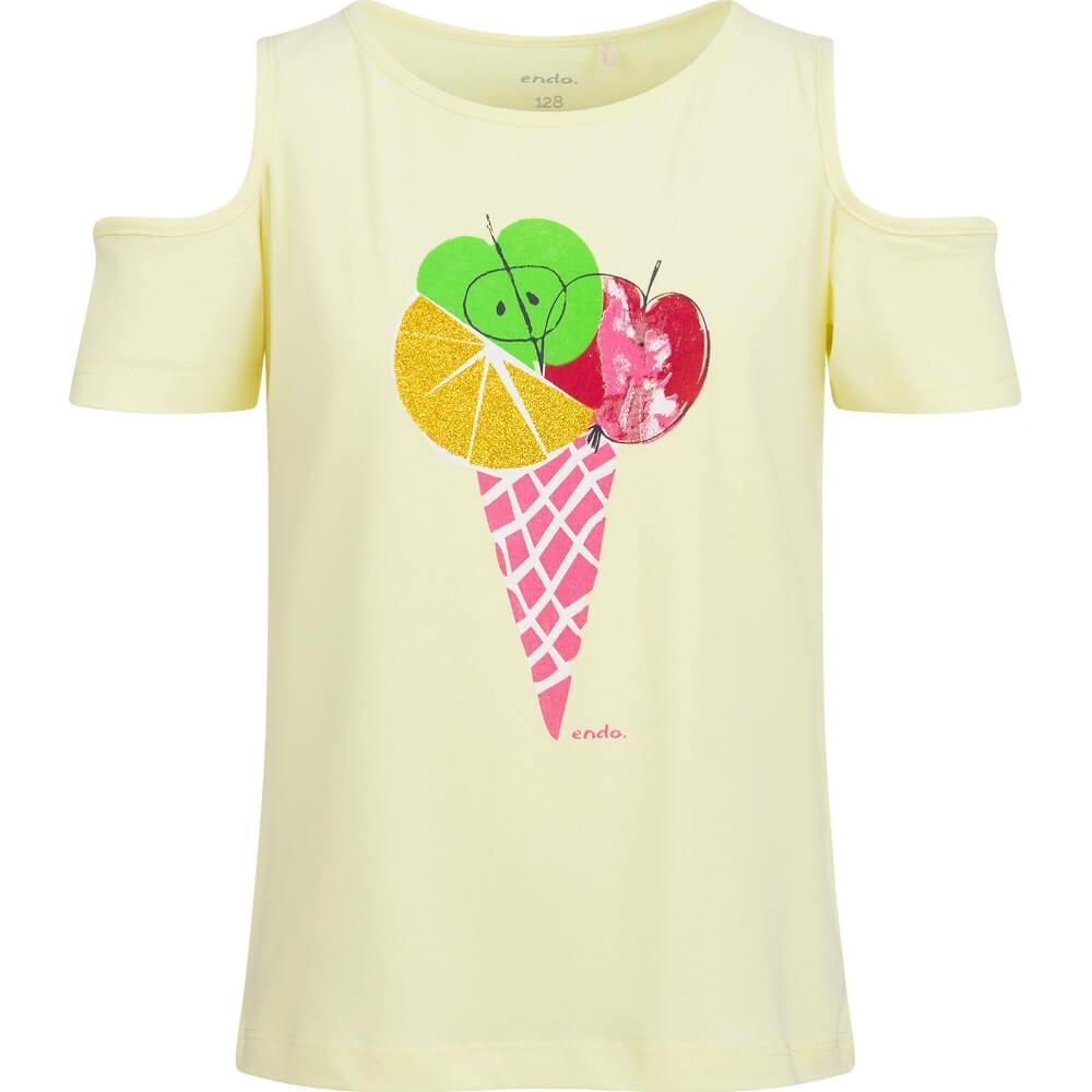 Κοντομάνικη μπλούζα κίτρινη Fruit Ice-cream