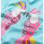 Κοντομάνικη μπλούζα γαλάζια Parrots