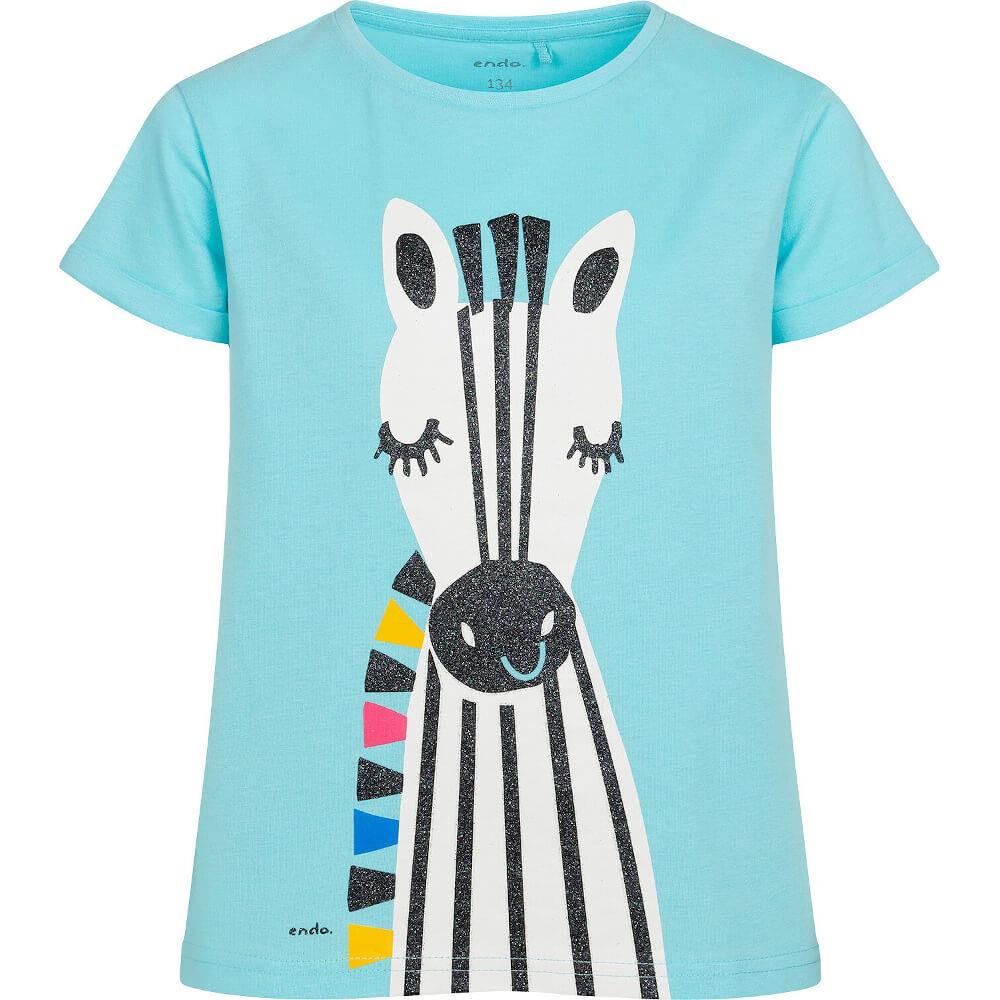 Κοντομάνικη μπλούζα γαλάζια Zebra