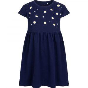 Κοντομάνικο φόρεμα μπλε Daisy