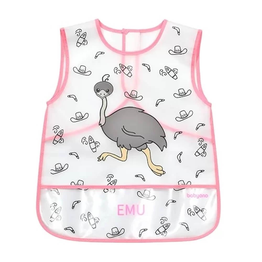 Παιδική Ποδιά-Σαλιάρα Πλαστική Emu, BabyOno