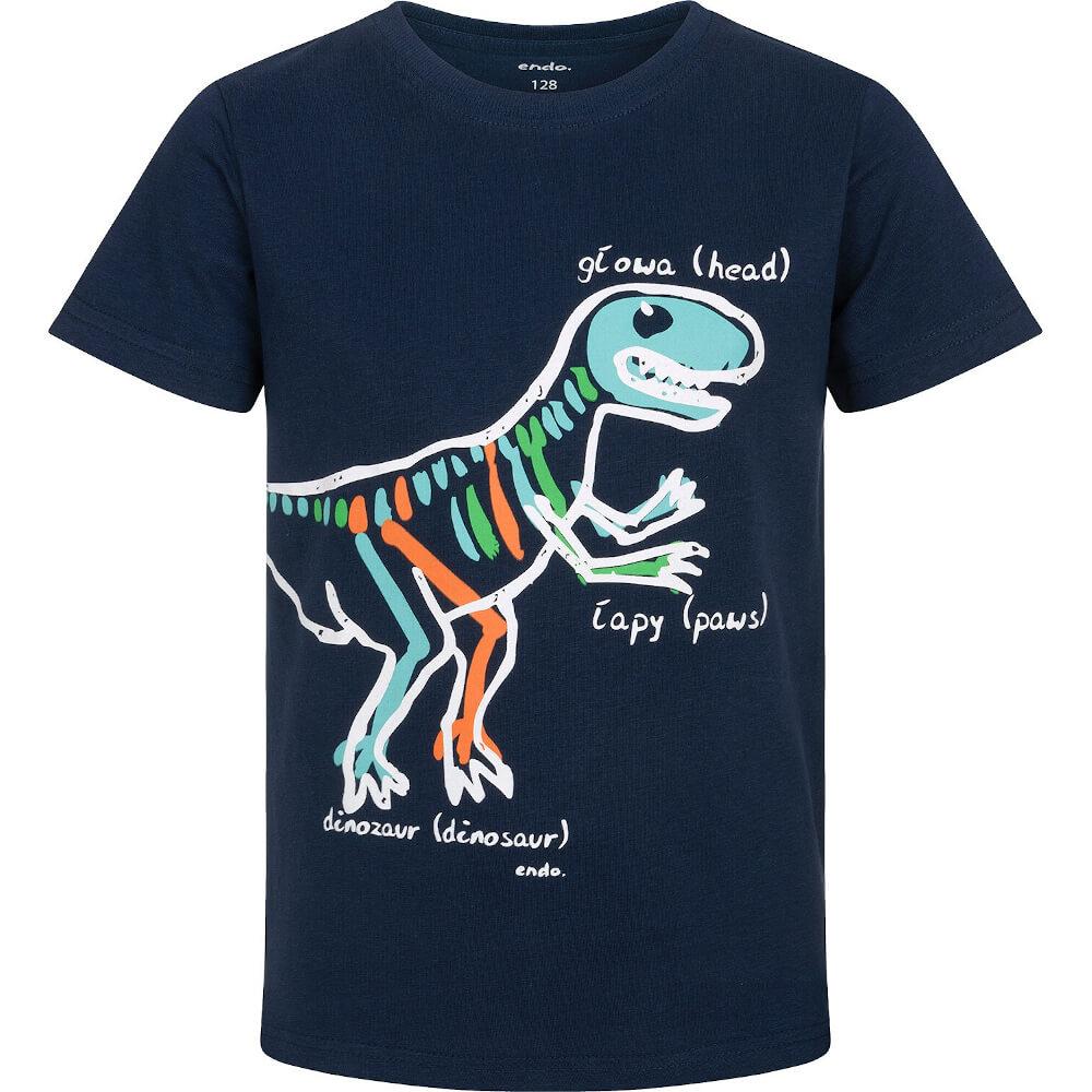 Κοντομάνικη μπλούζα μπλε Dinosaur Anatomy