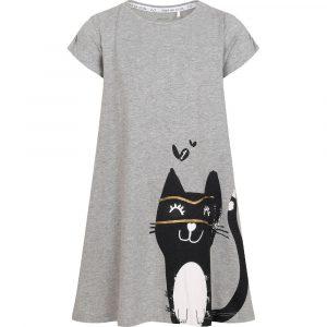 Κοντομάνικο φόρεμα Gray Cat