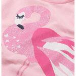 Κοντομάνικη μπλούζα ροζ Flamingos