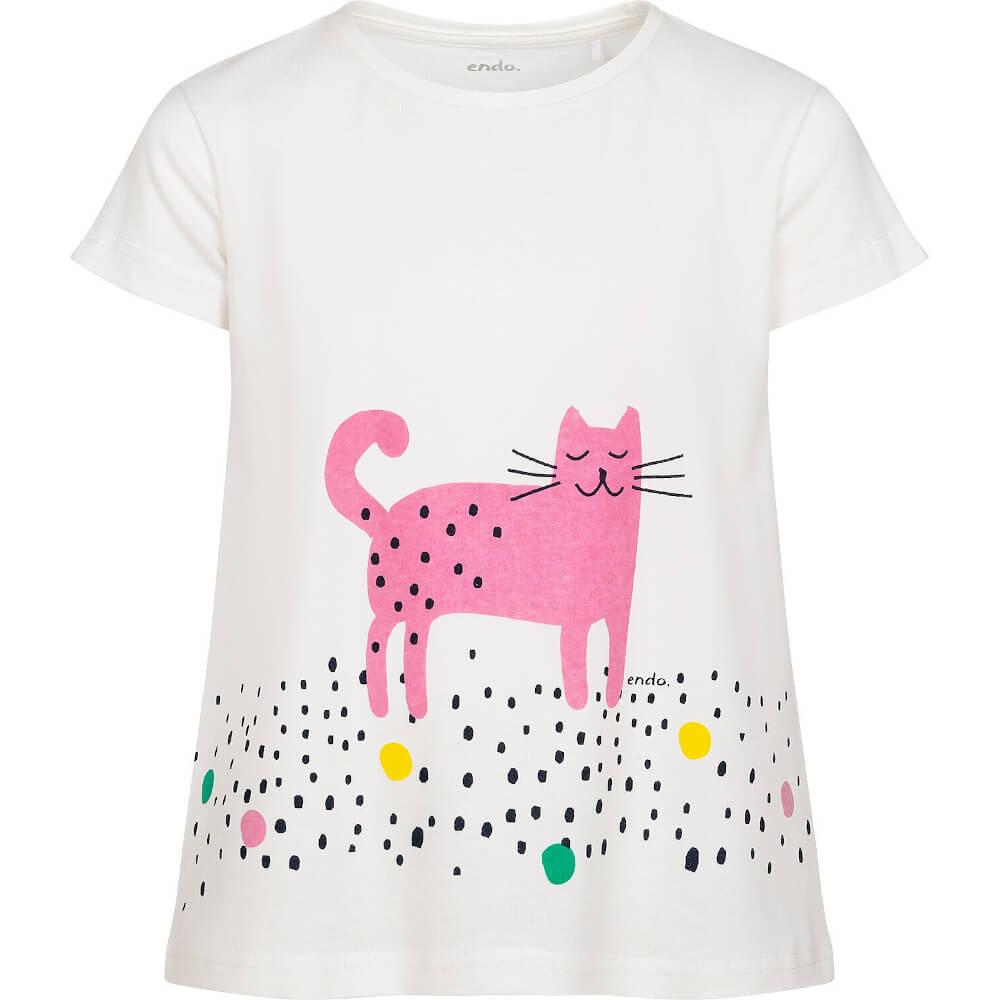 Κοντομάνικη μπλούζα Happy Cat