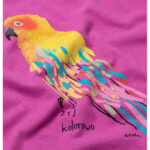 Κοντομάνικο φόρεμα Pink Parrot