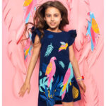 Κοντομάνικο φόρεμα blue Birds