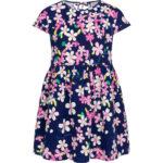 Κοντομάνικο φόρεμα Colourful Flowers