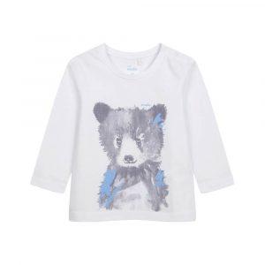 Μπλούζα λευκή, αρκουδάκι